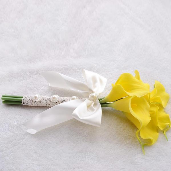 Makea Vaahto/Nauha Morsiusneito Kukkakimppuihin