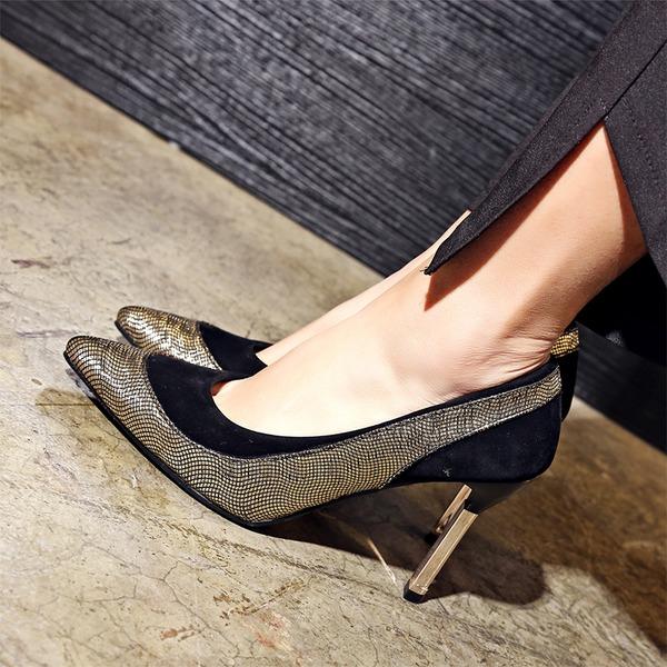 Donna Camoscio Tacco a spillo Stiletto Punta chiusa con Altrui scarpe