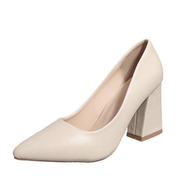 Женщины Устойчивый каблук На каблуках Закрытый мыс обувь