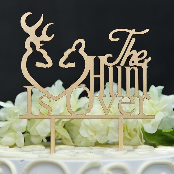 Hjerte/Kærlighed er sød Træ Kage Topper