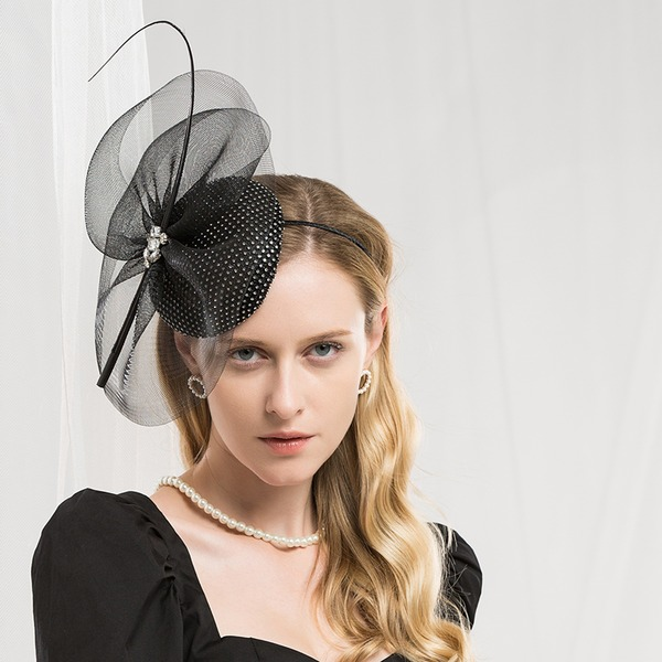 Damer' Mode/Glamorösa/Elegant polyester med Fjäder Fascinators