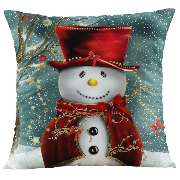 Traditional/Classic Cartoon Polyester Christmas Pillowcases 45*45Cm(Sold in a single piece)