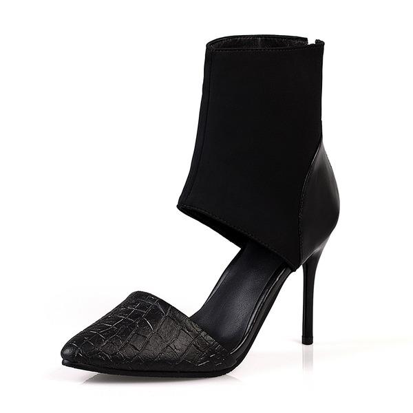 Kvinner Lær Stiletto Hæl Sandaler Lukket Tå sko
