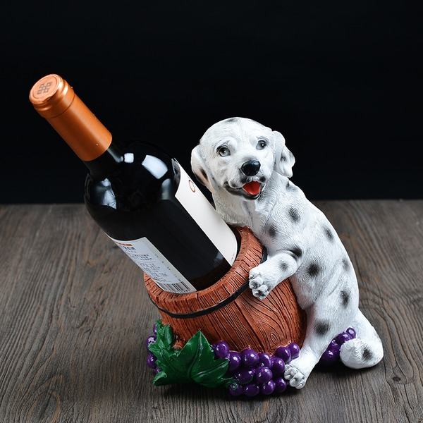 Hund Harz Flaschenhalter / Weinregal