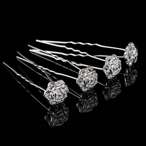Lovely Alloy Hairpins(Set of 4)