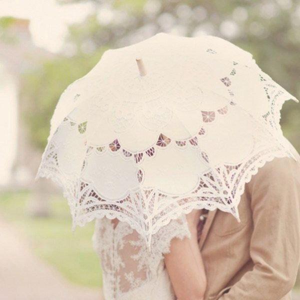 Dentelle Ombrelle de mariage