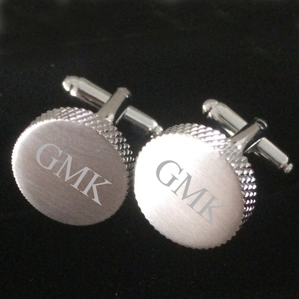 Personalized Round Stainless Steel Cufflinks (Set of 2)