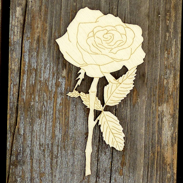 Creative Gifts Classic Rose Wooden (Set of 10) Non-personalized Gifts