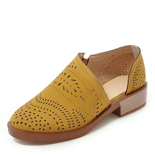 Women's PU Chunky Heel Flats shoes