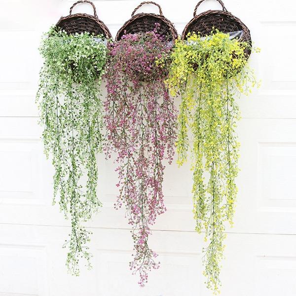 Flor de vid/Hermoso Atractivo Plástico Flores artificiales (Se venden en un montón)