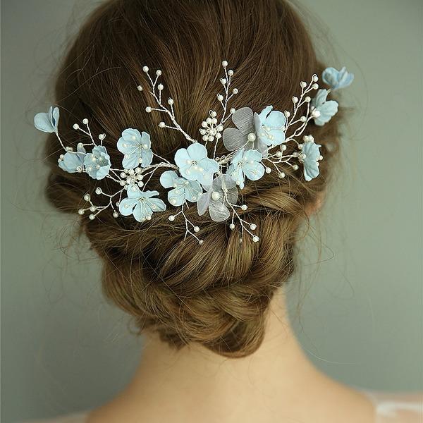 Filles Magnifique Strass/De faux pearl/Fleur en soie Des peignes et barrettes avec Strass (Vendu dans une seule pièce)