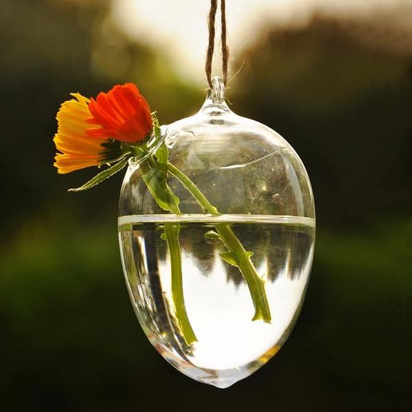 Wassertropfen geformt Glas Vase