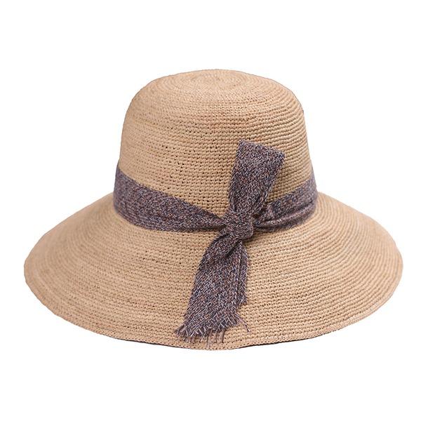 Ladies ' Vynikající Rafie slámy S Bowknot Slaměný klobouk