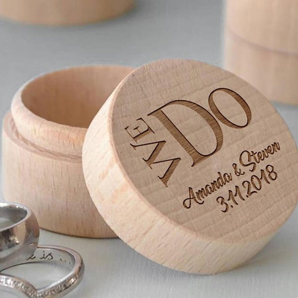Individualisiert Ring-Kasten in Holz