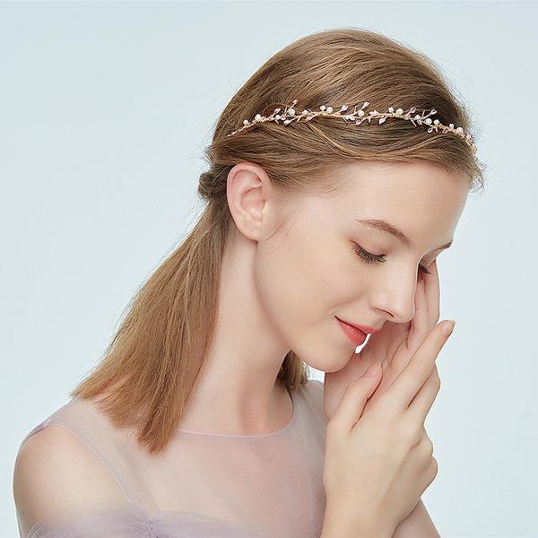Damer Vakkert Legering Pannebånd med Rhinestone/Venetianske Perle (Selges i ett stykke)