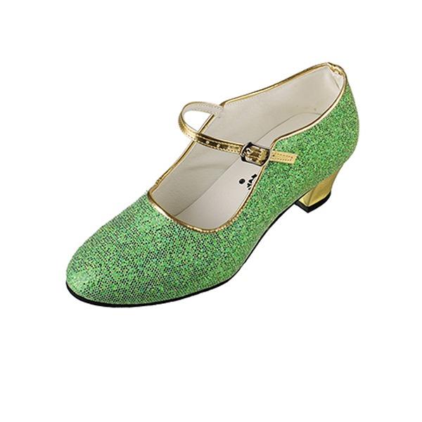 Детская обувь кожа На каблуках Бальные танцы с пряжка Обувь для танцев