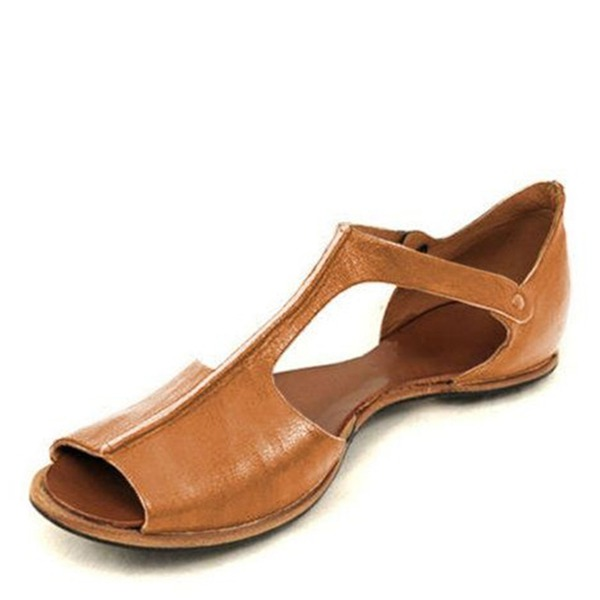 Naisten Keinonahasta Matalakorkoiset Heel Sandaalit kengät