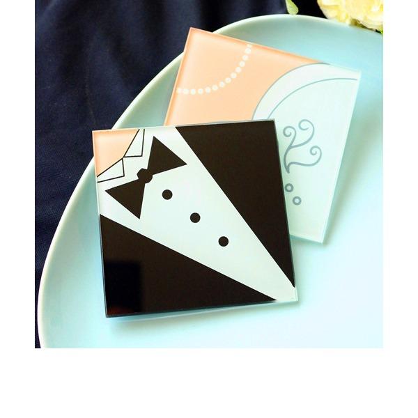 Bride and Groom coaster(set of 2pcs)