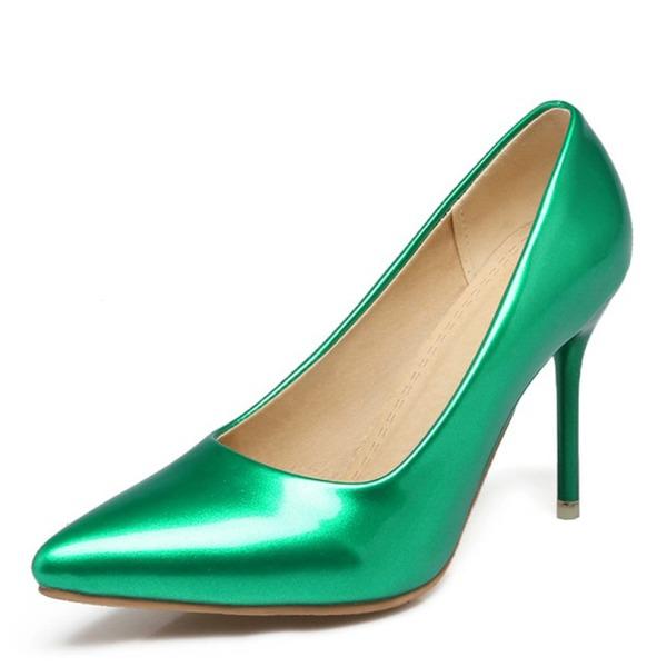 Женщины кожа Высокий тонкий каблук На каблуках обувь