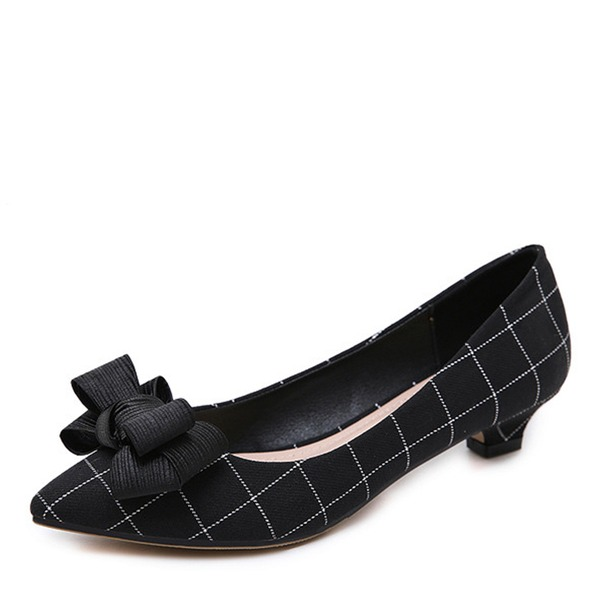 Frauen Stoff Niederiger Absatz Absatzschuhe Geschlossene Zehe Schuhe