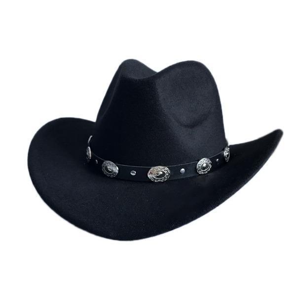 Män Glamorösa Filt Cowboyhatt