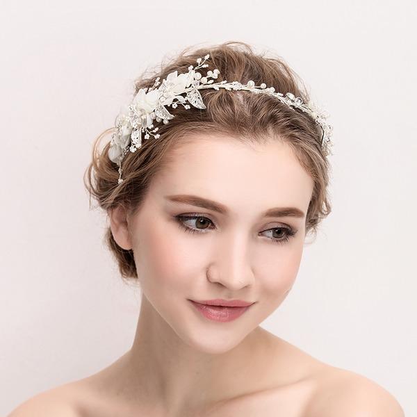 Abbigliamento donna Bella Cristallo/lega/Di faux perla/Fiore di seta Diademi