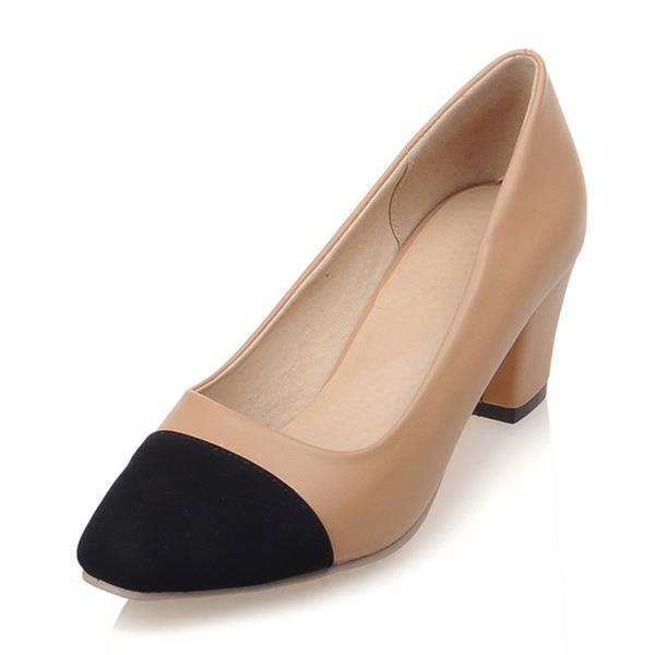 Donna Similpelle Tacco spesso Stiletto Punta chiusa scarpe