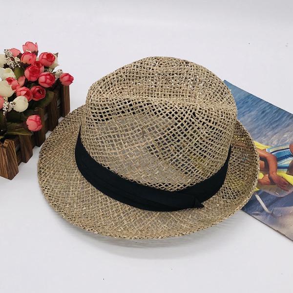 Män Mode/Elegant/Unik Salt halm Fedora Hat/Kentucky Derby Hattar
