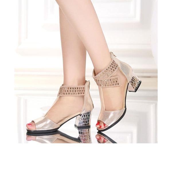 De mujer Cuero Tejido Botas botas de danza con Rhinestone Zapatos de danza