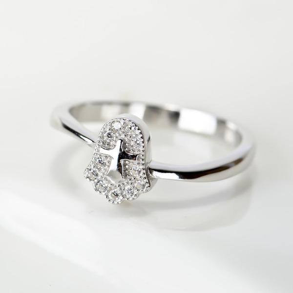 Senhoras Elegante 925 prata esterlina Anéis Ela/Amigos/Menina das flores
