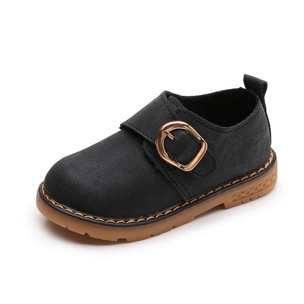 Girl's Ronde neus imitatieleer Flat Heel Flats Laarzen met Gesp