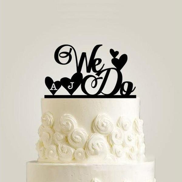 Personalizado o que fazemos Acrílico Decorações de bolos