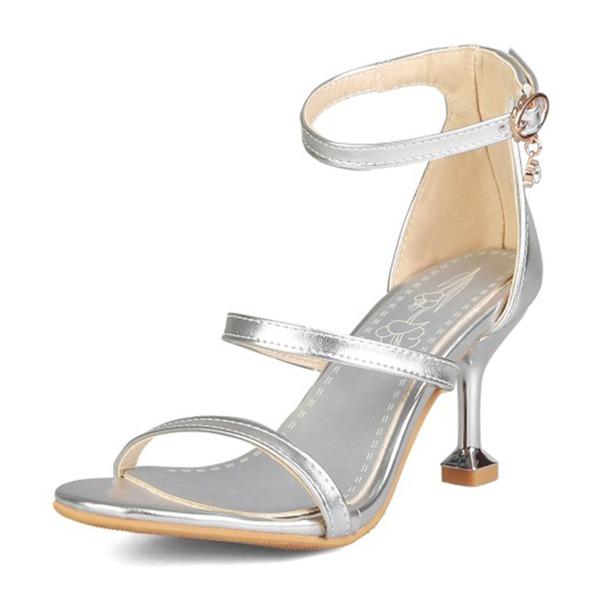 Kvinder Kunstlæder Stiletto Hæl sandaler Pumps Kigge Tå med Spænde sko