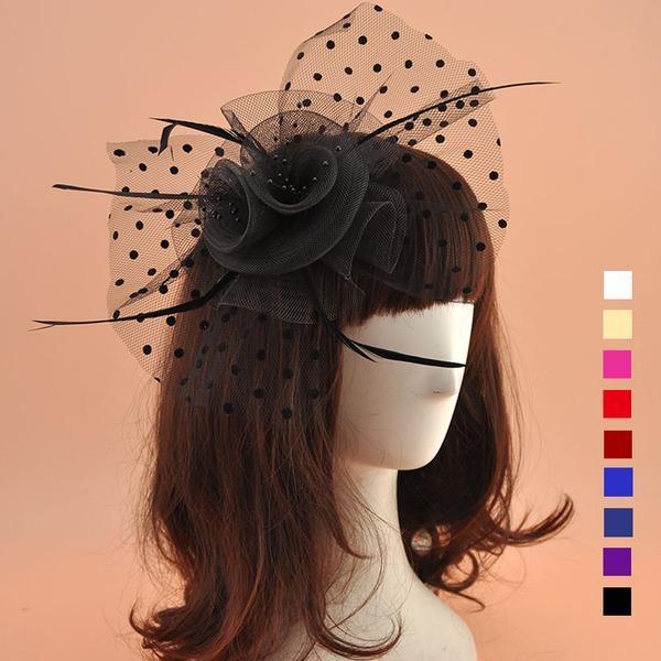 Dames Style Vintage Organza avec Feather Chapeaux de type fascinator/Chapeaux Tea Party