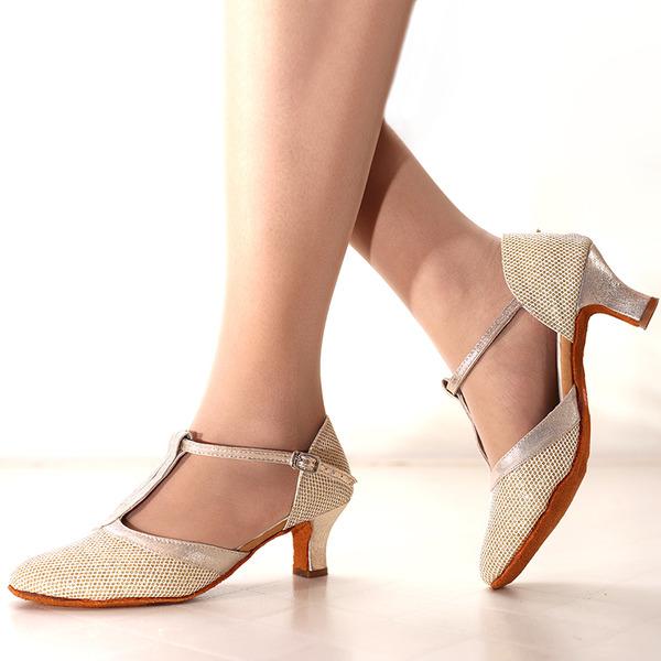 Женщины Мерцающая отделка На каблуках Латино Обувь для танцев