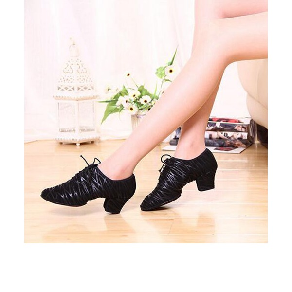 Women's Real Leather Heels Pumps Latin Ballroom Practice Character Shoes Dance Shoes