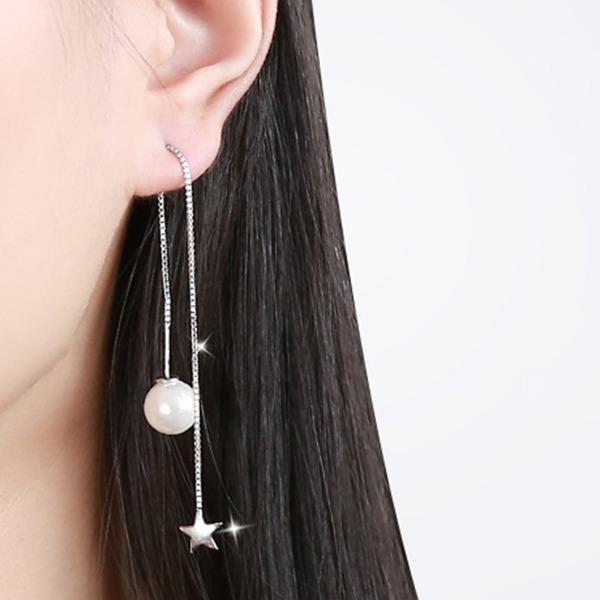 Elegante lega Di faux perla con Perla imitazione Donna Orecchini di modo (Set di 2)