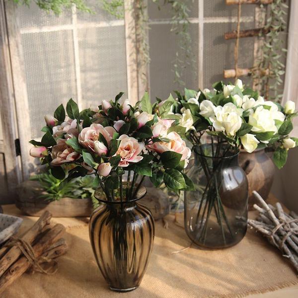Květinový design Půvabný/Pěkný Silk Flower Umělé květiny (Sada 4)
