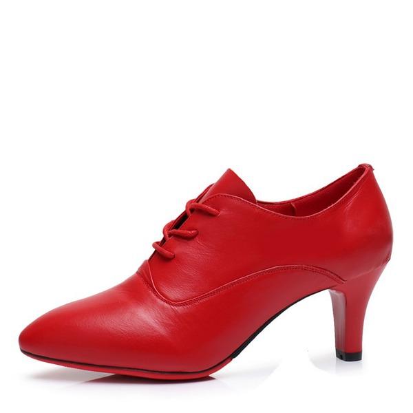 Femmes Vrai cuir Talons Latin Modern Style Swing Chaussures de Caractère Chaussures de danse