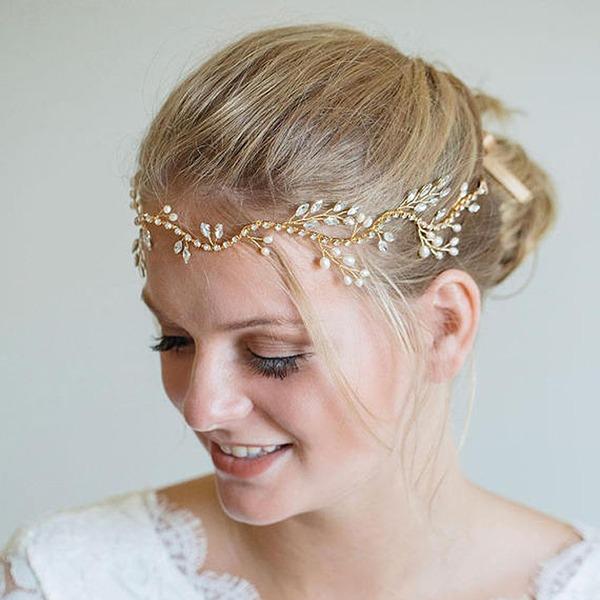 Dame Smuk Legering Pandebånd med Venetiansk Perle (Sælges i et enkelt stykke)