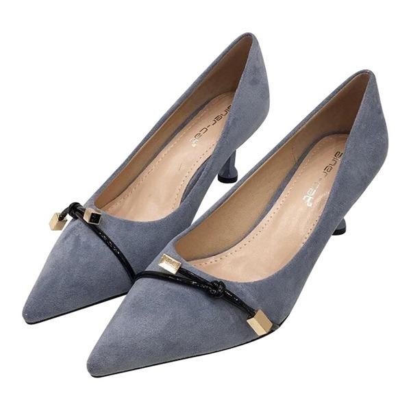Donna Camoscio Tacco a spillo Stiletto Punta chiusa scarpe