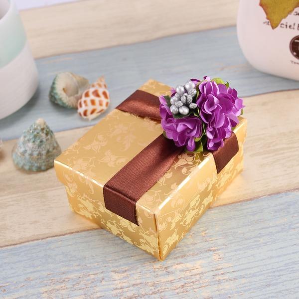 Çiçek Tasarım Kübik Hediye Kutuları Ile Çiçek(ler) 12'li Set