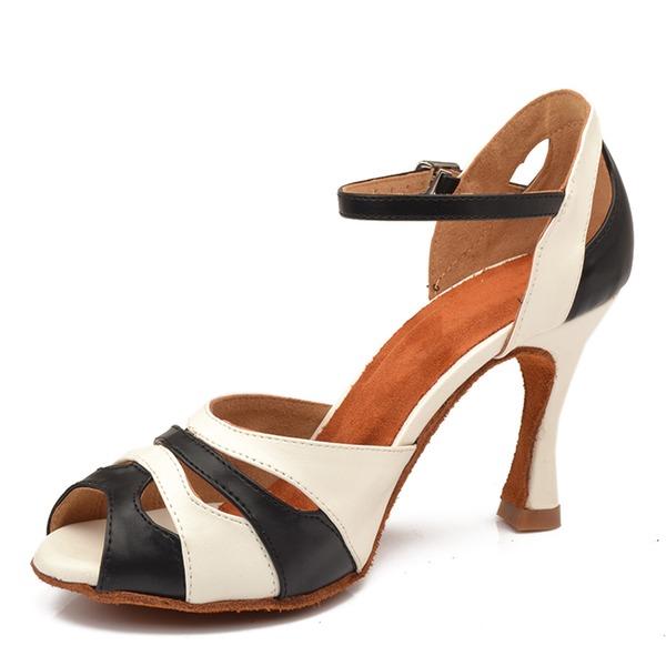 Mulheres Couro Saltos Latino Sapatos de dança