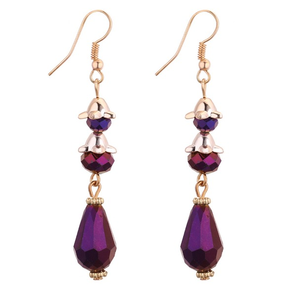 Fashional Copper Glass Ladies' Fashion Earrings