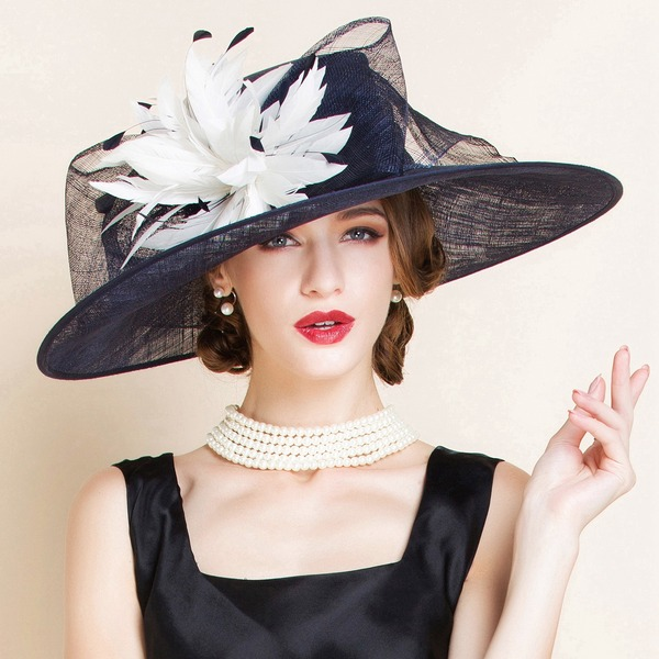 Ladies ' baroque Batyst Bowler / Cloche Hat/Kapelusze Kentucky Derby/Czapki Tea Party