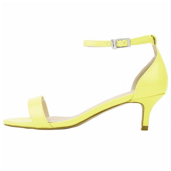 De mujer Piel brillante Tacón bajo Sandalias Encaje zapatos