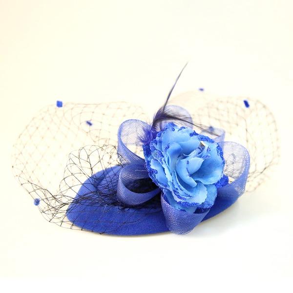 Dames Beau Feather/Dentelle/Fleur en soie/Velours Chapeaux de type fascinator