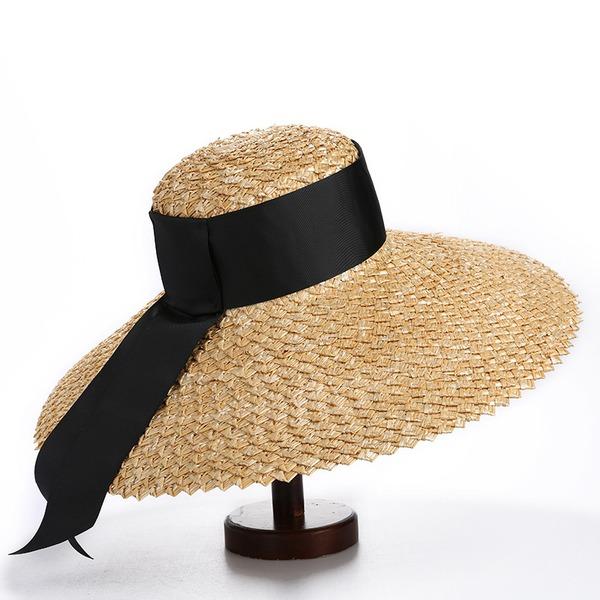 Damene ' Enkel/Hotteste Polyester/Salty Straw Stråhatt/Strand / Sol Hatter/Kentucky Derby Hatter