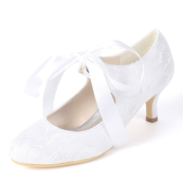 Women's Silk Like Satin Stiletto Heel Pumps With Ribbon Tie