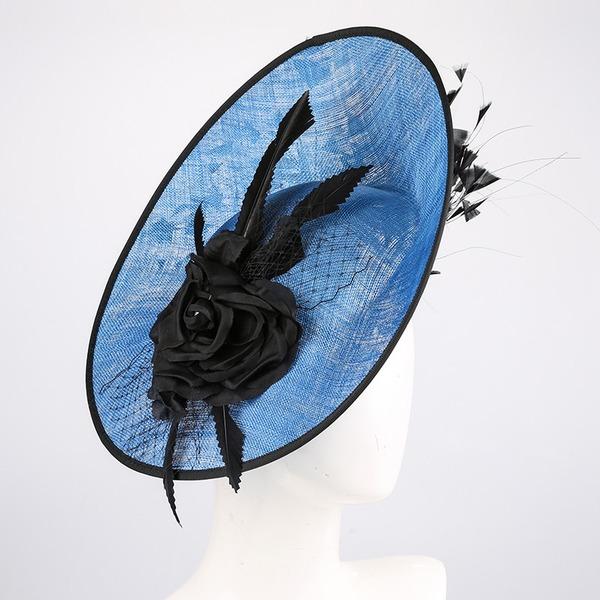 Senhoras Mais quente/Artístico Cambraia com Flor de seda Fascinators/Kentucky Derby Bonés